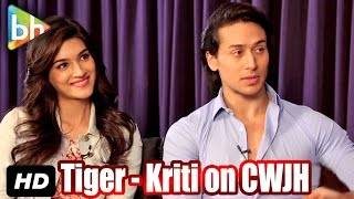 Exclusive: Tiger Shroff - Kriti Sanon's Interview On Chal Wahan Jaate Hain | Dilwale | Shah Rukh