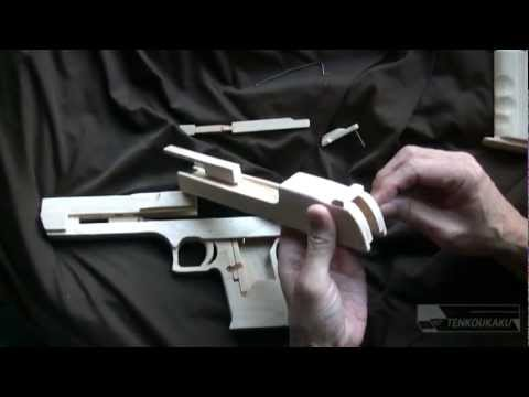 Blowback rubber band gun : Assembly-Desert Eagle Type