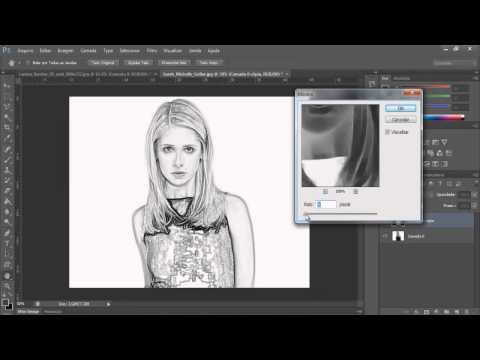 tutorial potoshop cs6-como transformar uma foto em desenho