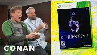 Clueless Gamer_ Conan O'Brien Reviews Resident Evil 6 - CONAN on TBS