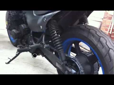 92 Honda Nighthawk CB750 stock exhaust removed .