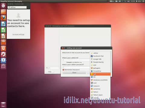 6 - Chat (MSN, Google talk, IRC, Facebook...) - Ubuntu 12.04 LTS Tutorial 1 - Simple Tasks