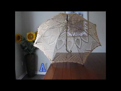 Crocheted Lace Parasols - Tutorial