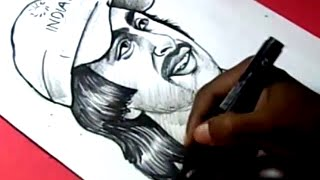 How to Draw INDIAN CRICKETOR AMBATI RAYUDU DRAWING for kids