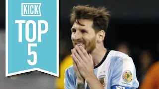 Top 5 Worst Lionel Messi Moments