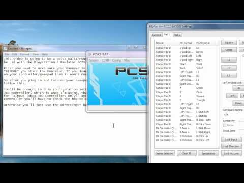 PCSX2: Configuring a Gamepad for use