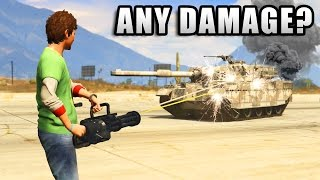 GTA V - Can you destroy Tank with bullets only?