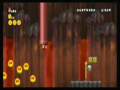 New Super Mario Bros Wii Custom Level - Journey to the center of the Earth