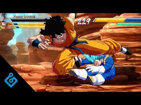 New Dragon Ball FighterZ Gameplay - Full Tien And Yamcha Match