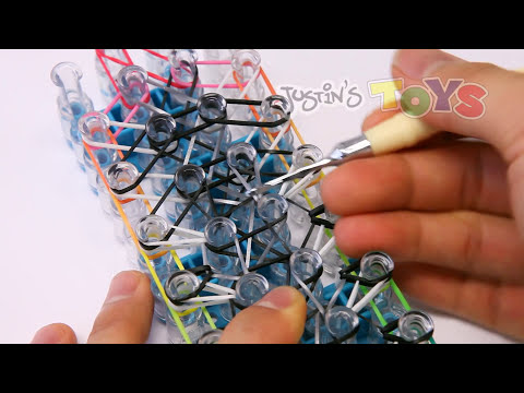 Symphony Rainbow Loom Bracelet - Needs 3 Looms - Advanced Reversible Design
