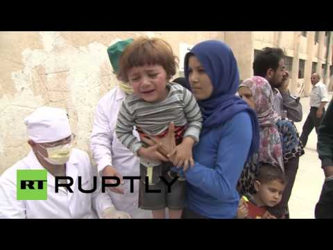 Syria: IDPs in Hama receive humanitarian aid and medical treatment
