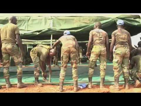 UN Quick Reaction Force in Bangui-Central Africa Republic