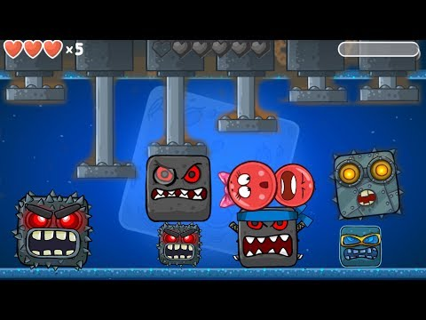 RED BALL 4 :  ALL 10 BOSSES Fight Together with ' GIRLFRIEND BALL & RED BALL '