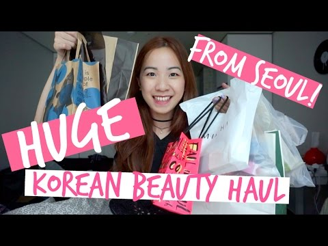HUGE Seoul Korean Beauty Haul & mini review! (Innisfree. Missha. Etude House. Banila Co & More)