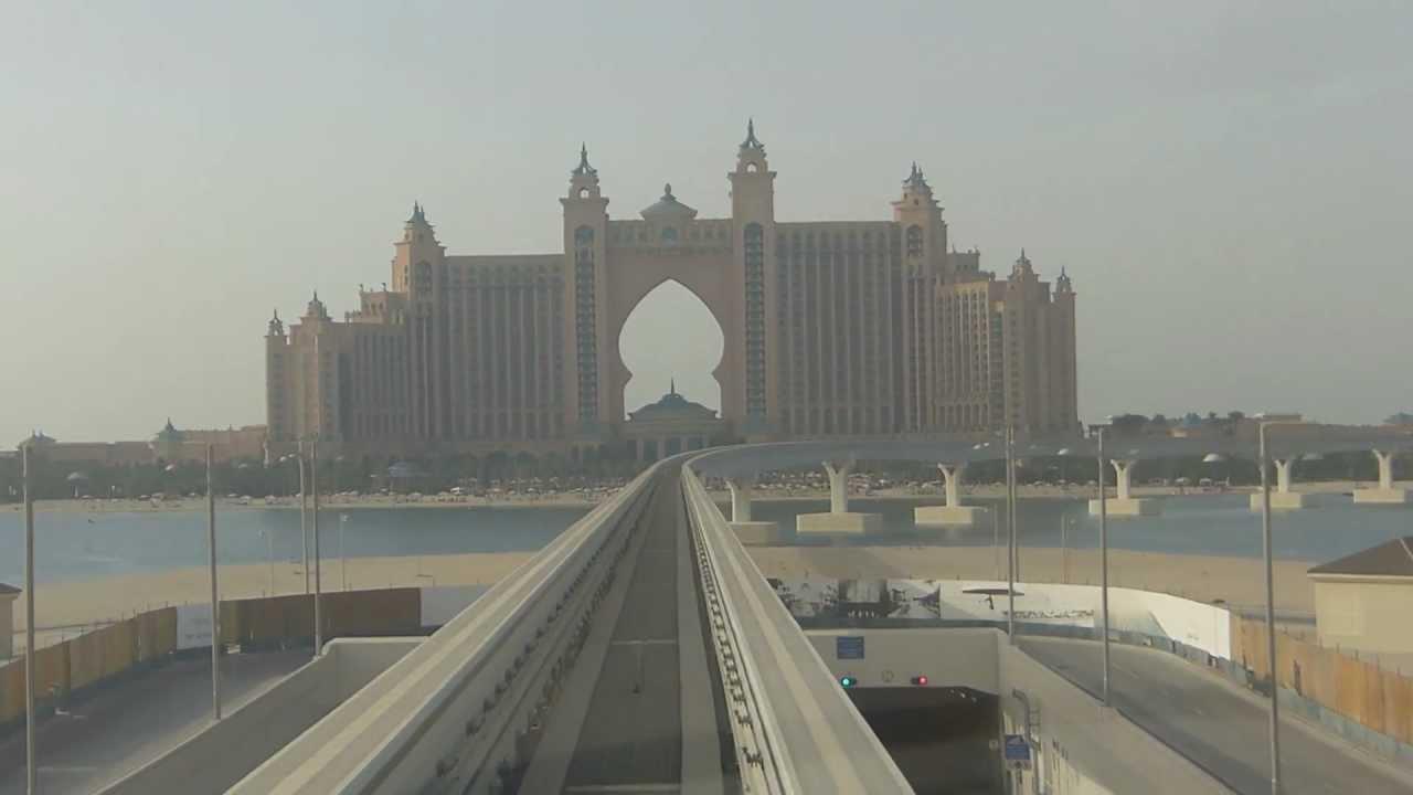 Dubai Atlantis Palm Monorail Youtube