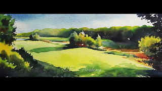 Watercolor Landscape Painting Tutorial step by step
