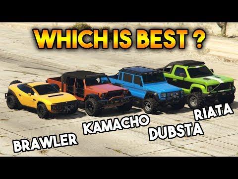 GTA 5 ONLINE : KAMACHO VS RIATA VS DUBSTA 6X6 VS BRAWLER (WHICH IS BEST?)