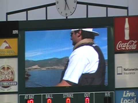 Salt Lake Bees Tribute to Nick Adenhart 4-10-09 wmv Video