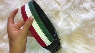 Italian Leather Dog Collar - Bucci, Roman Dog Collars