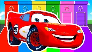 MCQUEEN COLORS for Kids - Cars Learning Educational Video - Bus Superheroes for babies