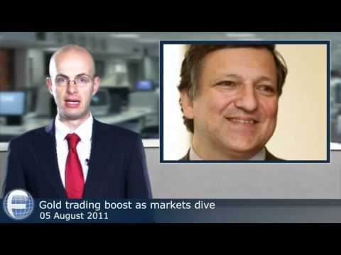 Gold trading boost as markets dive