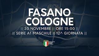 Serie A1M [12^]: Fasano - Cologne 31-28