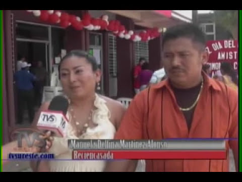 TVS Noticias.- Bodas colectivas, Chinameca, Veracruz