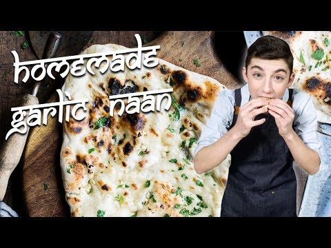 Homemade Garlic Naan | Chef Eitan Bernath