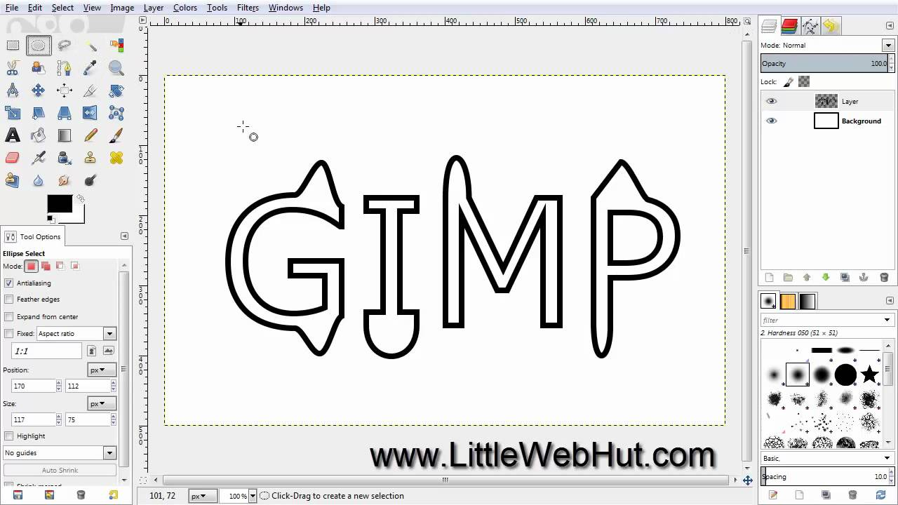 gimp tutorial text: