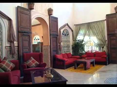 d coration maison marocaine youtube. Black Bedroom Furniture Sets. Home Design Ideas