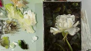 Oil Painting Rose