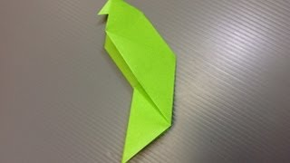 Daily Origami: 115 - Parakeet
