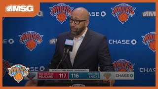 Fizdale: RJ Barrett Doesn't Look Like A Rookie | New York Knicks