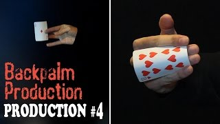 Magic tricks revealed - Advance Backpalm Production - Card production series #4 👍