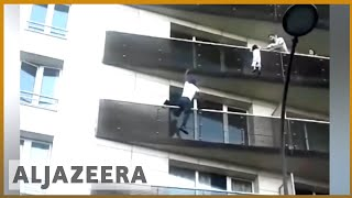 🇫🇷 Spiderman of Paris: Malian saves toddler from balcony in France  | Al Jazeera English
