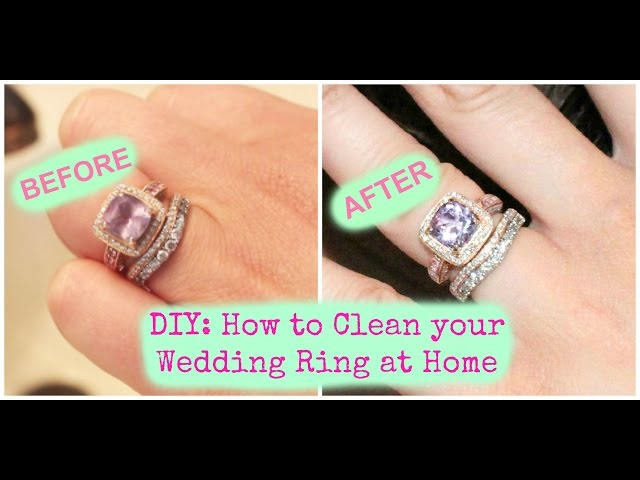 Best Way To Clean Diamond Ring At Home VIDEO TUTORIAL