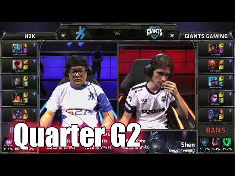 H2K Gaming vs Giants | Game 2 Quarter Finals S5 EU LCS Summer 2015 Playoffs | H2K vs GIA G2 QF