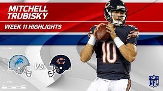 Mitchell Trubisky Highlights | Lions vs. Bears | Wk 11 Player Highlights