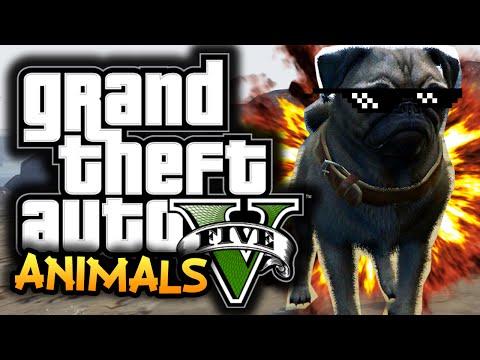 GTA 5: Next Gen Funny Moments! #2 - Playing As Animals, Rail Gun, Axe Murder!