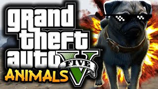 GTA 5: Next Gen Funny Moments! #2 - Playing As Animals, Rail Gun, Axe Murder!