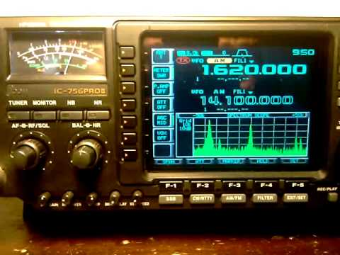 Icom IC 756 Pro II Receiving Amaters on 1620 KHZ in AM band part 2