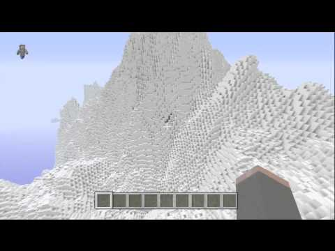 Minecraft (Xbox 360) - Snow Mountain Biome with Download!