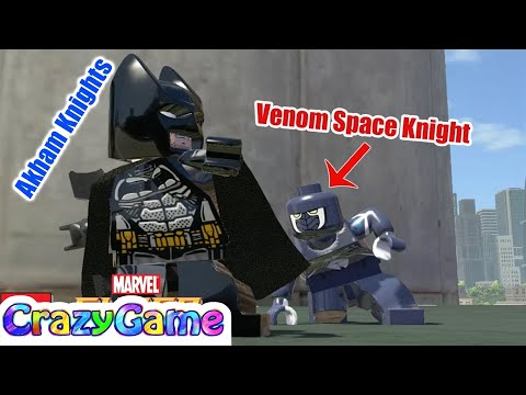 LEGO Batman Arkham Knight & Venom Space Knight Free Roam in LEGO Marvel Super Heroes MOD