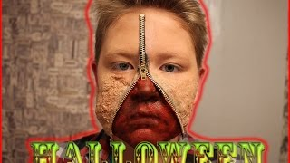 Makeup For Halloween Zipper Face / Грим На Хэллоуин