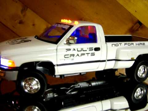 "1/18 JRL Toys ""Paul's Craft"" Dodge Ram 3500 dually w/ LIGHTS"