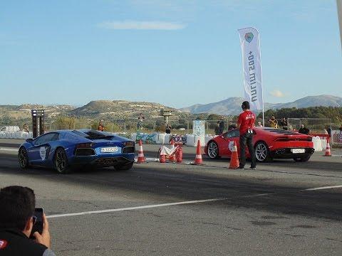 Lamborghini Huracan VS Aventador: 1/4 Mile Drag Race - Unlim 500+  e-Petrolheads GR