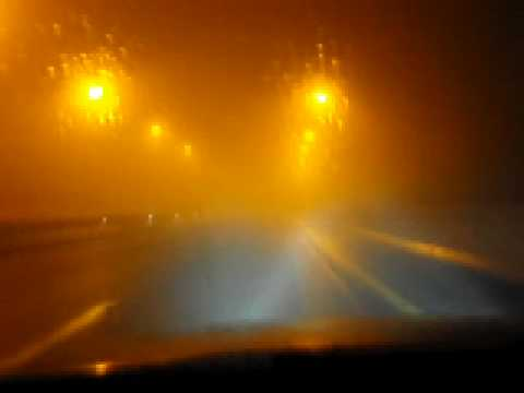 EGNATIA MOTORWAY. NIGHT FOG