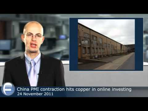 China PMI contraction hits copper in online investing