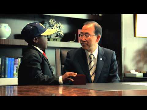 World Humanitarian Day 2013 - Kid President Behind-the-Scenes at the United Nations