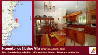 4-dormitorios 2-baños Villa se Vende en Beniarbeig, Alicante, Spain